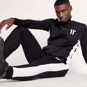 Men's Poly Panel Track Pants - Black/White