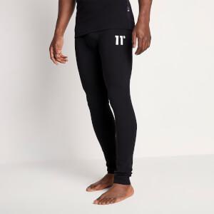 Men's Sustainable Loungewear Rib Pants - Black