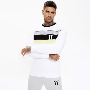 Men's Mercury Mesh Print Cut And Sew Sweatshirt - White