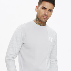 Men's Eclipse Cut And Sew Mixed Fabric Sweatshirt - Vapour Grey