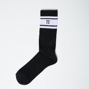 Men's Core Stripe Socks 3 Pack - Black