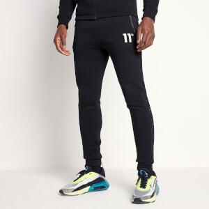 Men's Mesh Tape Regular Fit Joggers - Black