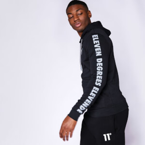 Men's Contrast Print Pullover Hoodie - Black/Charcoal