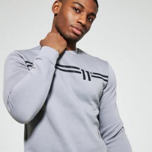 Men's Chest Stripe Sweatshirt - Silver/White