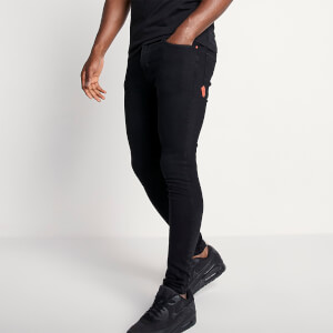 Men's Sustainable Stretch Jeans Skinny Fit - Jet Black Wash