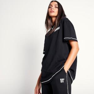Women's Cover Stitch Oversized T-Shirt Black/White