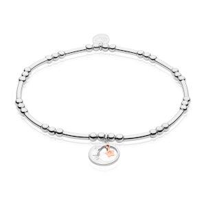 Moon and Star Affinity Bead Bracelet 16.5-17.5cm