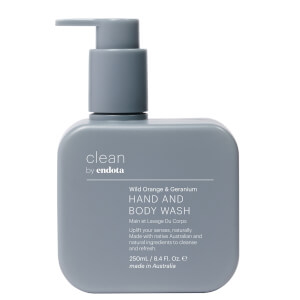 endota spa Wild Orange and Geranium Hand and Body Wash 250ml
