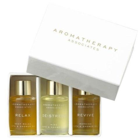 Aromatherapy Associates Essentials Relax, De-stress & Revive Bath Oils 3x7.5ml