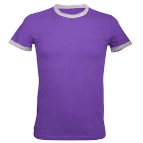 D&G Colourful Round Neck T-Shirt - Purple