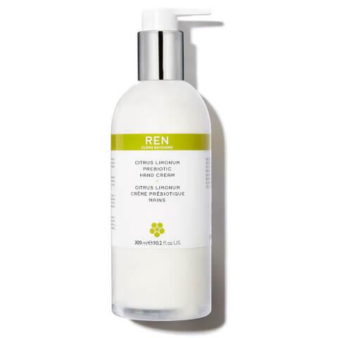 REN Citrus Limonum Prebiotic Hand Cream (300ml)