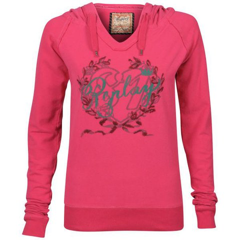 REPLAY Women's Hooded Sweatshirt - Pink