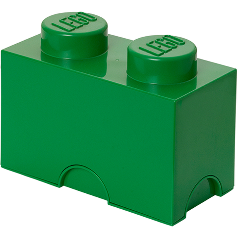 LEGO Storage Brick 2- Dark Green