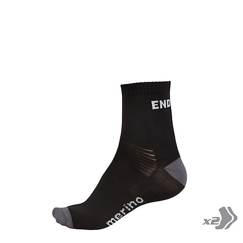 BaaBaa Merino Sock (Twin Pack) - Black/None