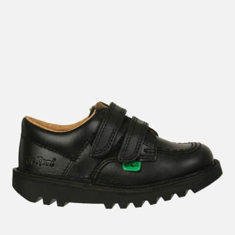 Kickers Kids Kick Lo Velcro Strap Shoes - Black