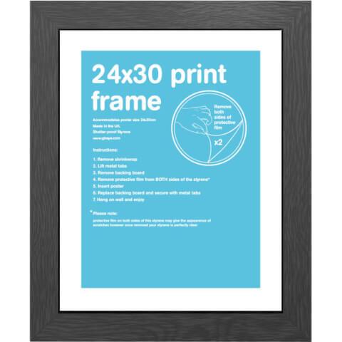 Black Frame - 24 x 30cm