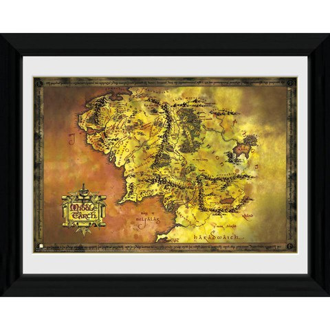 Lord Of The Rings Middle Earth - 30 x 40cm Collector Prints