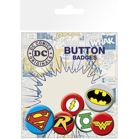 Lot de Badges Logo DC Comics