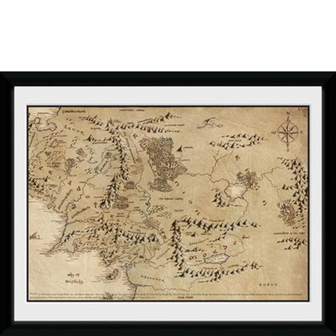 Lord of the Rings Map - 8x6 Framed Photographic