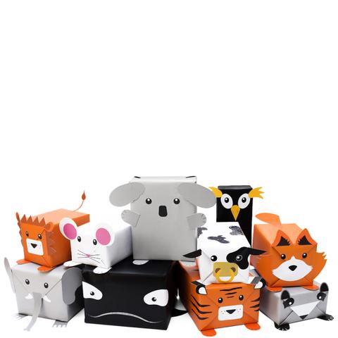 Papier Cadeau Animaux -Transformez vos cadeaux en animaux !