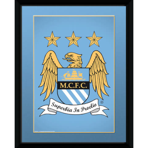 Manchester City Club Crest - 8x6 Framed Photographic