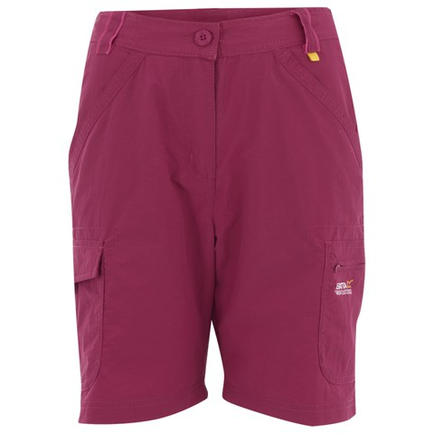 Regatta Women's Catla II Water Repellent Walking Shorts - Dark Cerise