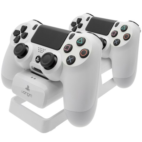 PS4 Dual Charging Stand & Battery Pack - White