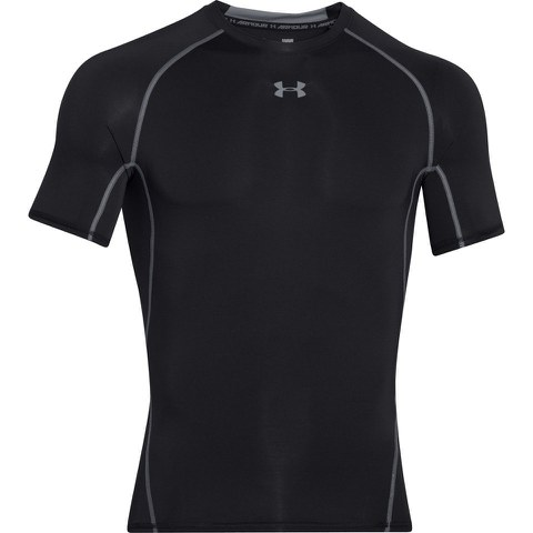 T-Shirt Compression HeatGear® manches Courtes Under Armour -Noir