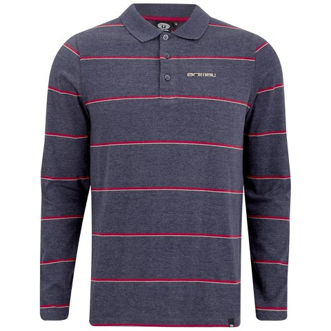 Animal Men's Legacy Long Sleeve Polo Shirt - Indigo Blue Marl
