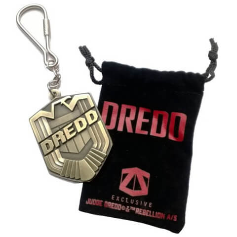 Judge Dredd Zavvi Exclusive Badge Key Chain