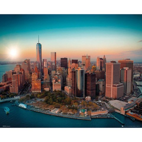 New York Freedom Tower Manhattan - Mini Poster - 40 x 50cm