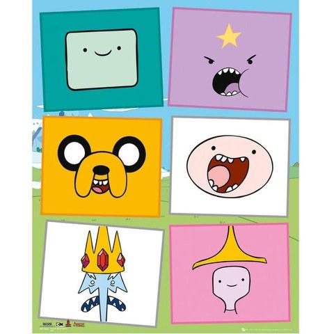 Adventure Time Faces - Mini Poster - 40 x 50cm
