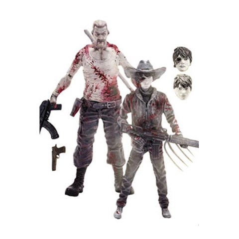 The Walking Dead Pack de 2 Figuras Abraham Ford & Carl Grimes Previews Exclusive