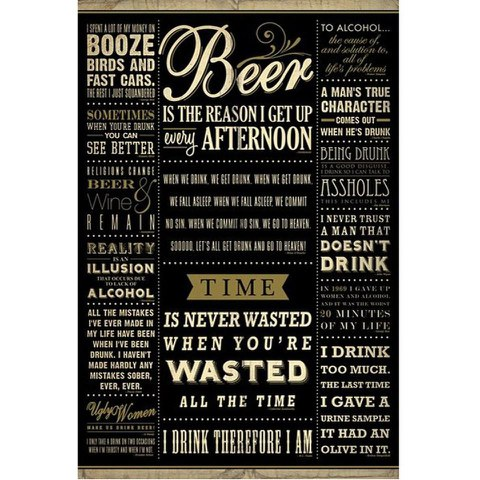 Drinking Quotes - 24 x 36 Inches Maxi Poster
