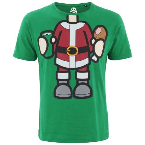 Xplicit Men's Bad Santa Christmas T-Shirt - Green
