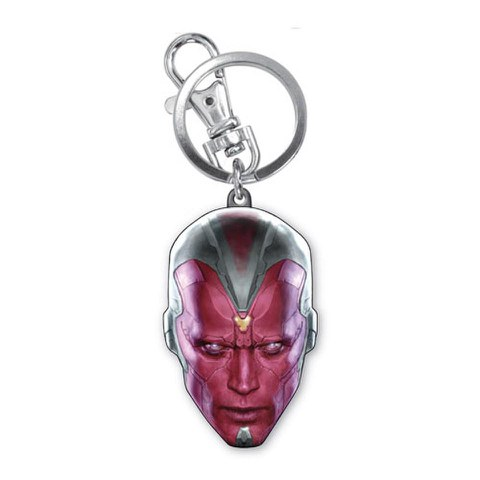 Marvel Avengers Age of Ultron Vision Head Coloured Pewter Key Chain