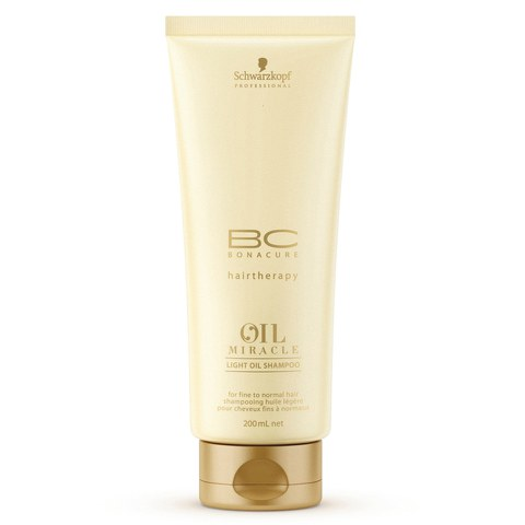 Schwarzkopf Bc Hairtherapy Miracle Light Oil for Fine to Normal Hair Shampoo 200ml (Free Gift)