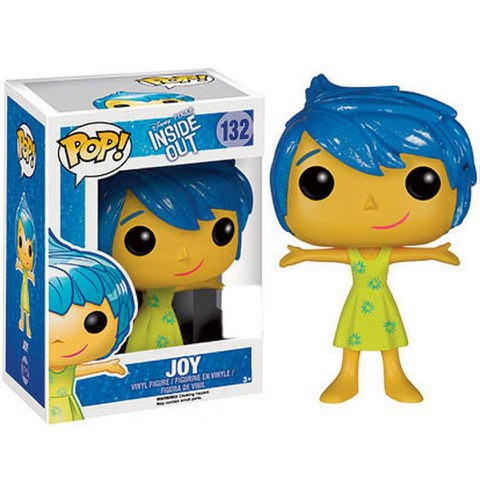 Disney Inside Out Joy Trannslucent Hair SDCC Exclusive Funko Pop! Figuur