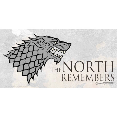 Game of Thrones Glass Poster - The North Remembers (50 x 25cm)