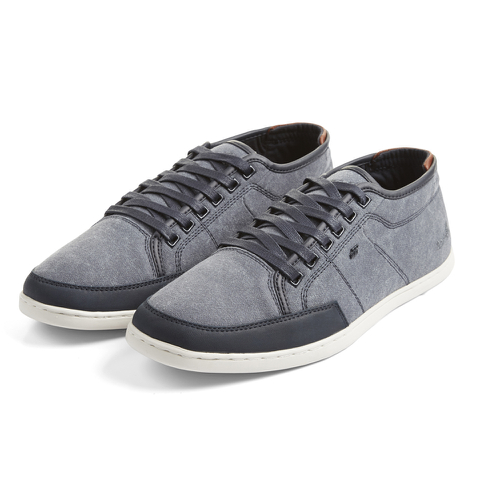 Boxfresh Men's Sparko Washed Canvas Low Top Trainers - Blue Graphite