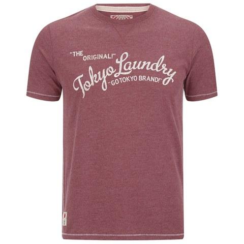 Tokyo Laundry Men's Norman Printed T-Shirt - Bordeaux Marl
