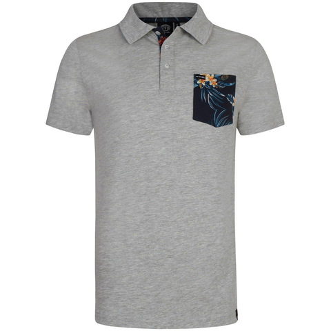 Animal Men's Floral Pocket Nep Polo Shirt - Grey Marl