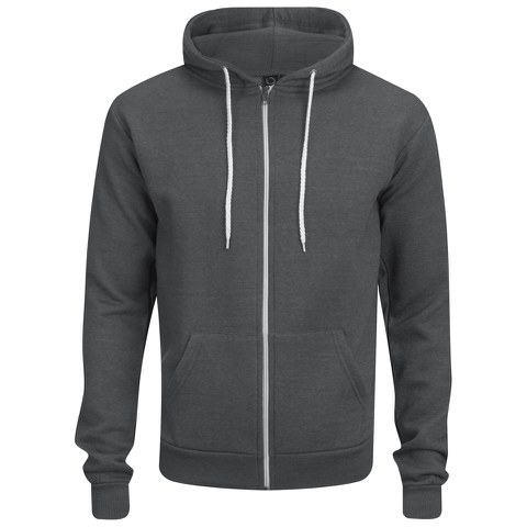 Soul Star Men's Berkley Zip Through Hoody - Charcoal