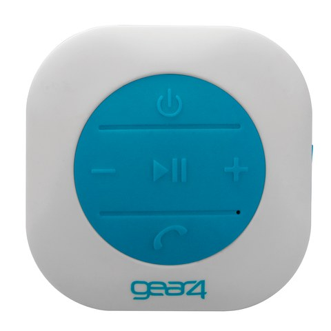 GEAR4 ShowerParty Waterproof Bluetooth Speaker - Blue/White