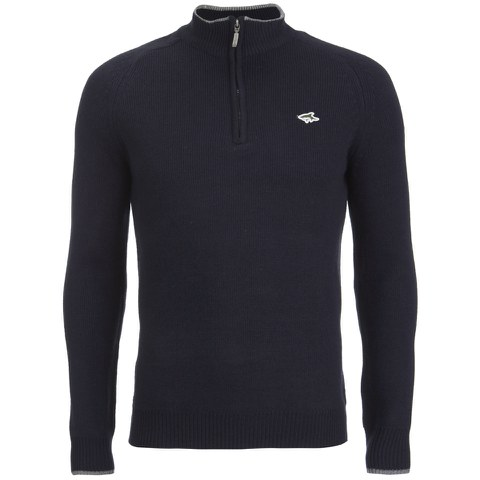 Le Shark Men's Rimini Funnel Neck Zip Jumper - Dark Navy