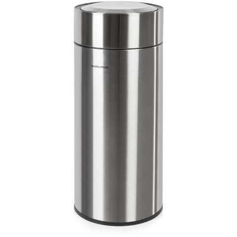 Morphy Richards 977110 Round Sensor Bin - Stainless Steel - 30L
