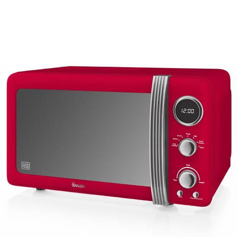 Swan SM22030RN Digital Microwave - Red - 800W