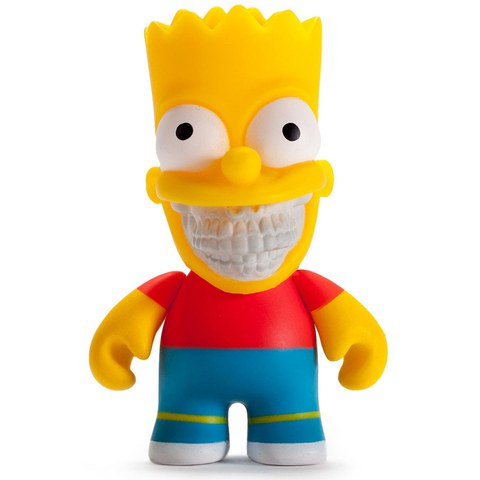 Kidrobot The Simpsons Bart Grin Action Figure