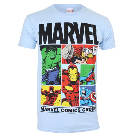 Marvel Gridlock Heren T-Shirt - Sky Blue