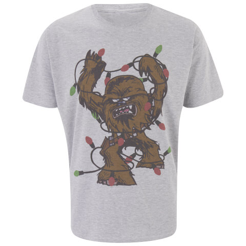 Star Wars Men's Chewbacca Lights T-Shirt - Light Grey Marl